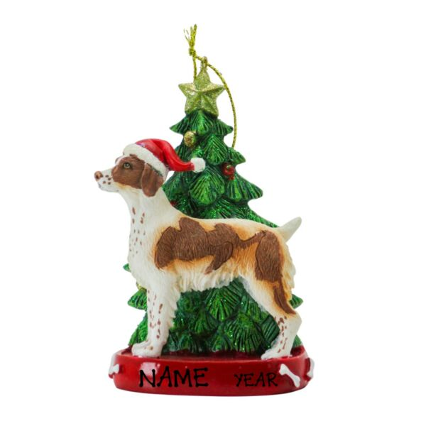 Personalized Dog Ornament Cute Brittany Dog Personalized Christmas Ornament $12.99