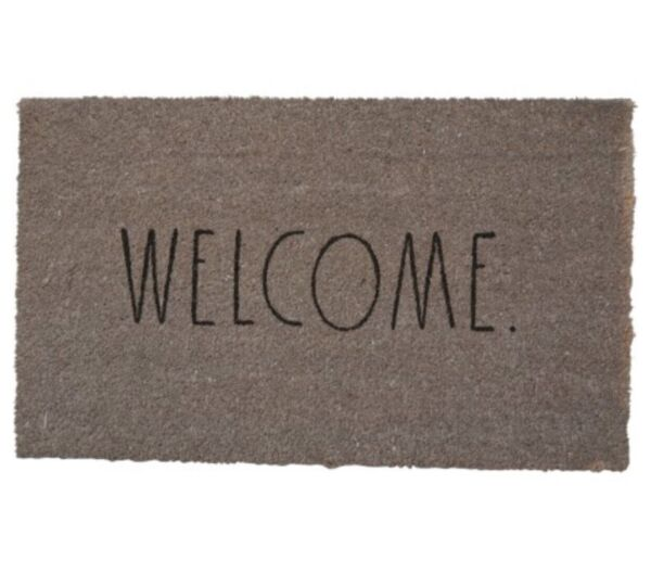 Rae dunn Coir Welcome Outdoor mat 18x30 Gray grey