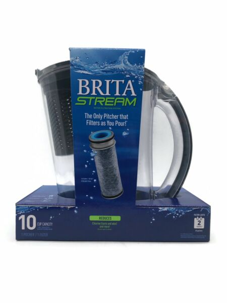 New Brita Stream 10 Cup Capacity Filters As You Pour Tech Pitcher