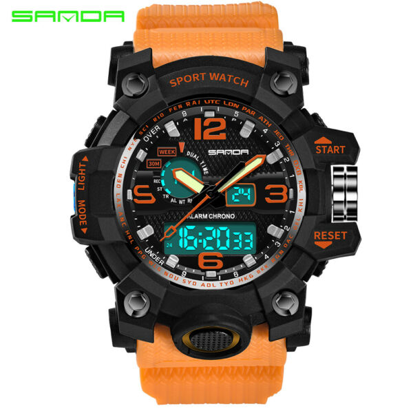 SANDA Mens Wrist Fashion Tactical Military Quartz Digital Sport Analog Watch US