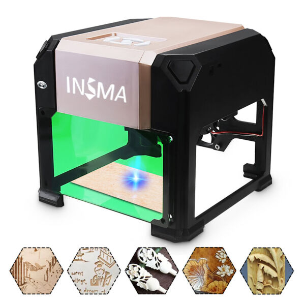 3000MW 3D CNC Laser Engraving Cutting Machine USB Engraver DIY Mark Printer $127.29