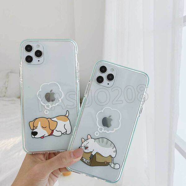 Snooze Dog Cat Shockproof Phone Case Cover For iPhone 11 Pro Max XR XS XE 8 Plus $11.99