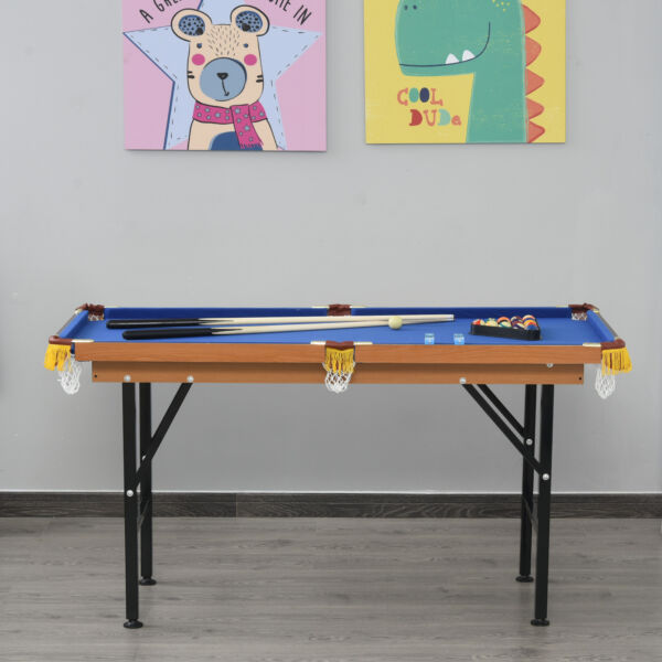 Soozier Portable Folding Billiards Table Game Pool Table for Kids Adults $142.99