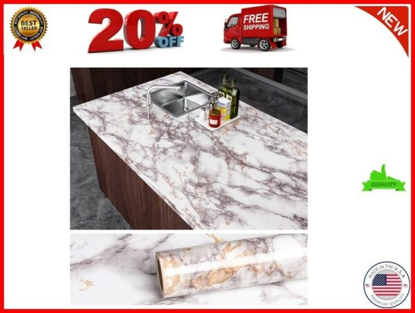 quot;Grey Marble Contact Paper Counter Top Covers Peel And Stick Wallpaper Granitequot;