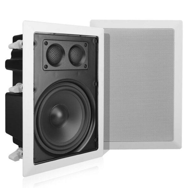 Pyle Home PDIW67 6.5quot; 2 Way Enclosed In Wall Ceiling Flush Mount Speaker Pair $64.99