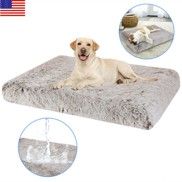 High Grade Orthopedic Thick Foam Dog Bed with Pillow and Easy to Wash Removable $25.93