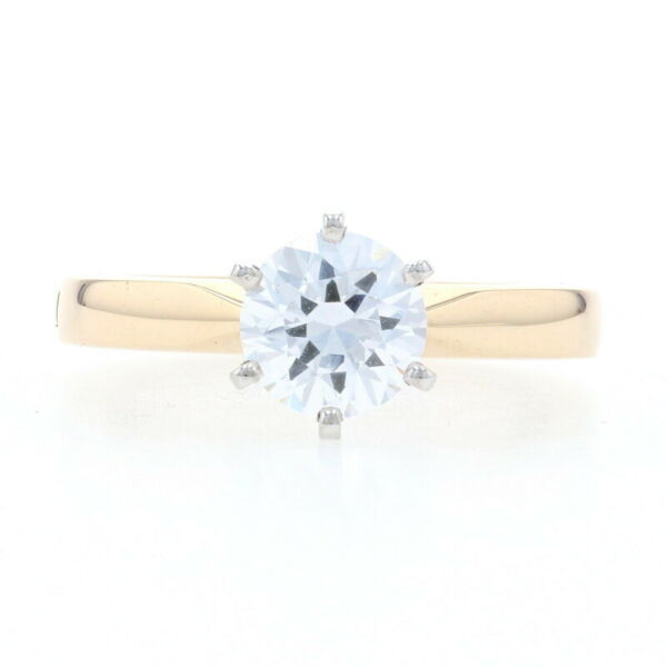 Yellow Gold Semi Mount Solitaire Engagement Ring 14k for 6.5mm Arthritic Shank $1249.99