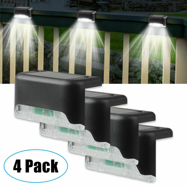 4 Solar LED Bright Deck Lights Outdoor Garden Patio Railing Decks Path Lighting $11.99