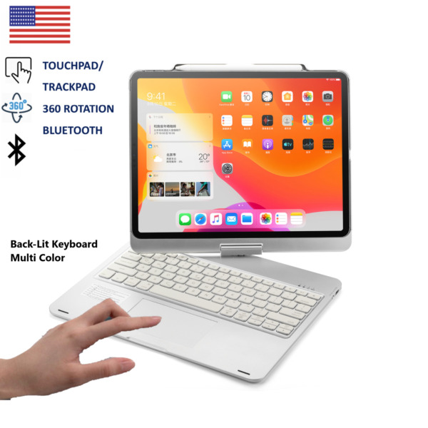 iPad Pro 12.9#x27;#x27; 4th Gen Case Color Backlit Touchpad Bluetooth Magic Keyboard New