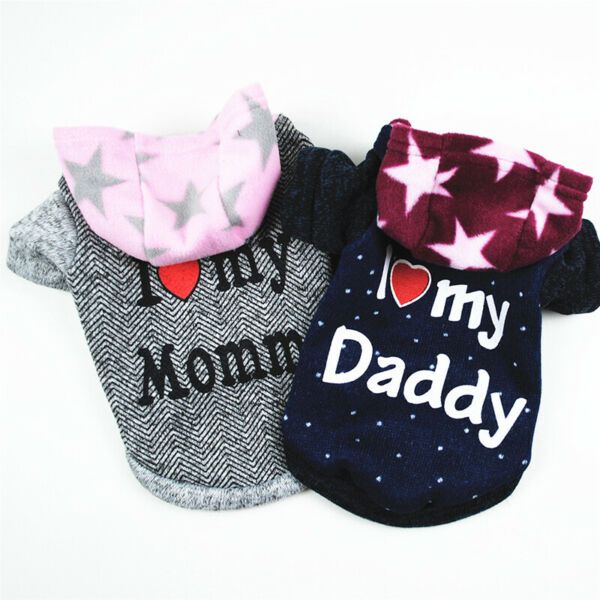 Soft Fleece Dog Jumpsuit Winter Dog Clothes Small Puppy Coat Pet Outfits Hoodie $3.50