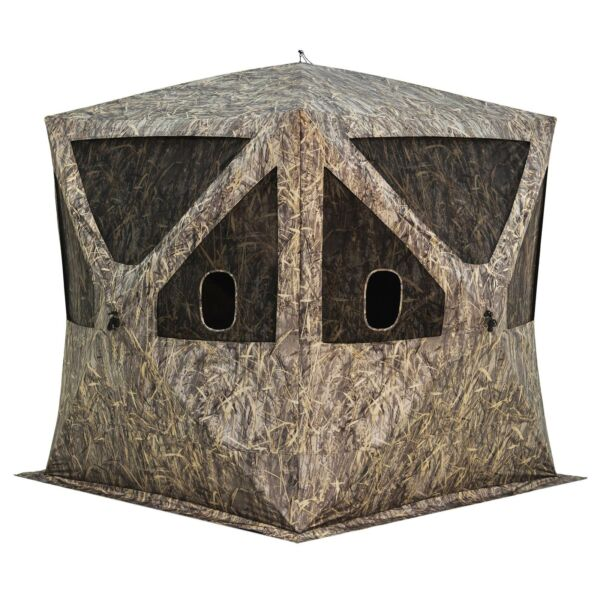 Barronett Blinds Big Cat 350 3 Person Pop Up Hunting Blind Shelter Blades Camo
