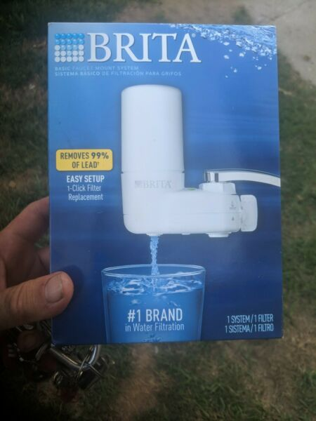 Brita Basic Faucet Mount Water Filtration System 1 system 1 filter White