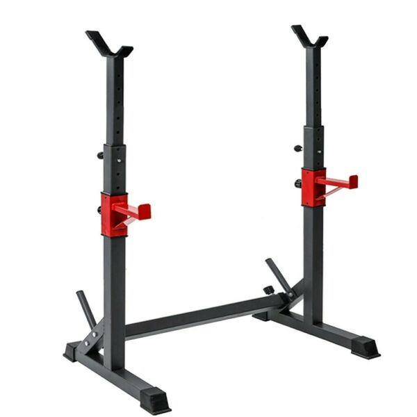 Adjustable Squat Rack Bench Press Power Weight Rack Barbell Stand Gym Home Black $79.88