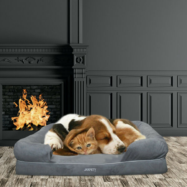 Large Dog Sofa Bed Removable cover Soft Warm Calming Bed Dog House for Sleeping $79.99