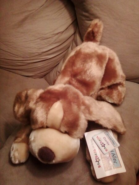 NEW Animal Alley Dog Large Darby Brown Tan Plush 14quot; Soft Stuffed Toy $14.99