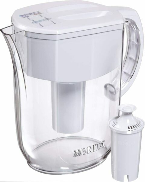 Brita Water Pitcher with 1 Filter w 1 std White