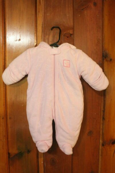 Carter#x27;s Child Of Mine Bunting Snowsuit Pink Bear 3 6 Months Baby Snow