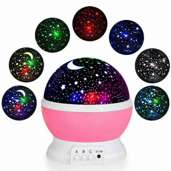 LED USB Star Light Kids Sleep Night Sky Romantic Starry Projector Cosmos Lamp