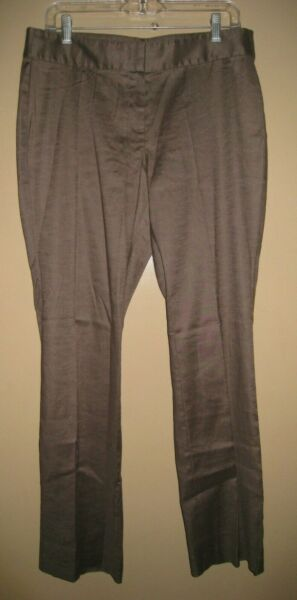 J. JILL Women#x27;s Shale Brown Linen Stretch Pants 10 NWT $19.99