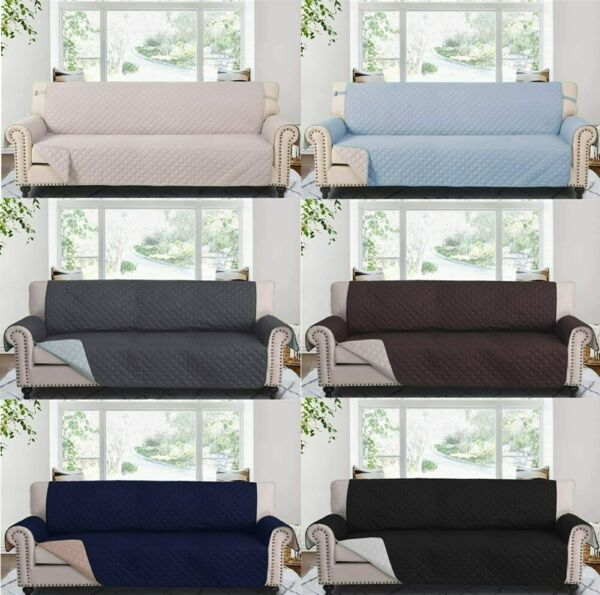 78quot; Reversible Sofa Couch Cover Throw Furniture Protector Extra Wide Slipcover $31.34
