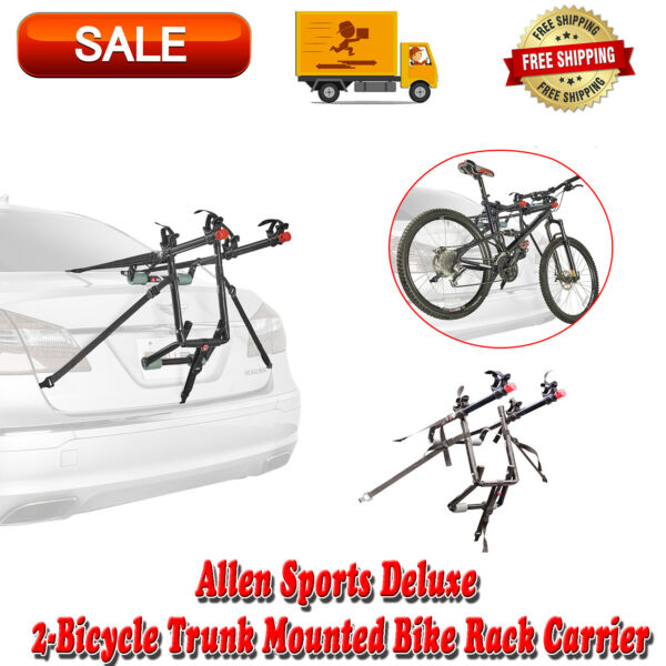 2 Bike Trunk Rack Rear Mount Two Bikes Carrier Car SUV Bicycle Sedans Sturdy $48.83