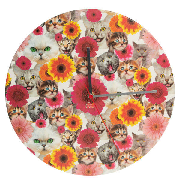 Décor Craft Funny Large Wall Clock Battery Operated Decorative Analog Kids Adult $12.95