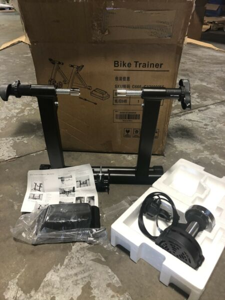 Topeakmart Indoor Bicycle Bike Trainer Exercise Stand Black $80.00