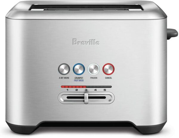 Breville Bit More 4 Slice Toaster Brushed Stainless Steel Free Shipping