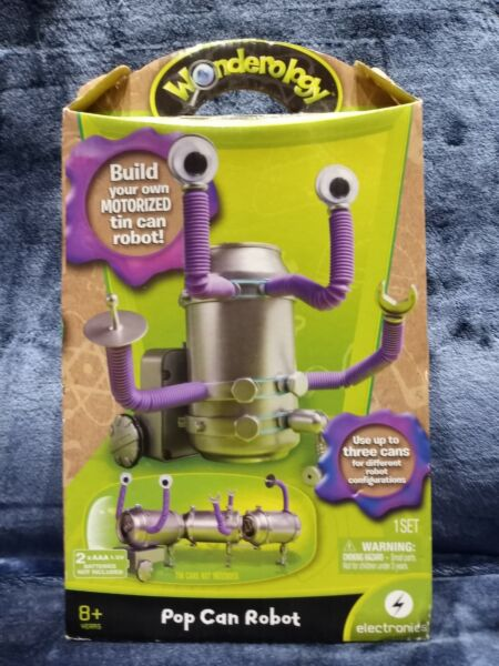 Wonderology Pop Can Robot Build Own Motorized Tin Can Robot NEW Sealed
