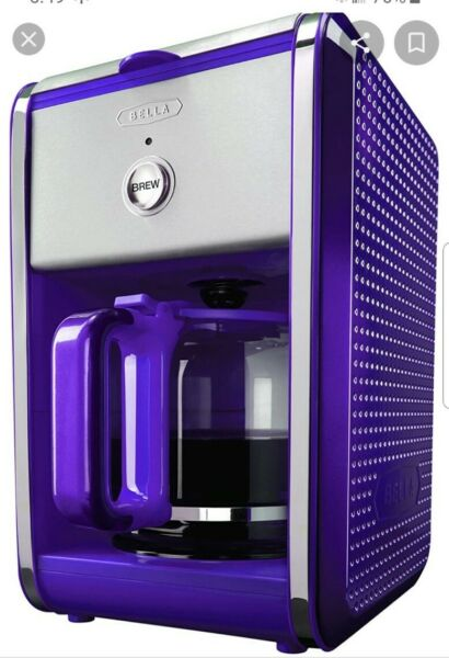 Bella Dots Collection Coffee Maker Purple Brand New