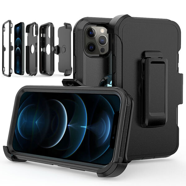 For iPhone 12 Pro 11 12 Pro Max Heavy Duty Shockproof Phone Case CoverBelt Clip $9.99