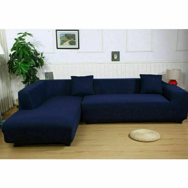Stretch Fabric Sofa Slipcover Elastic Sectional Furniture Cover Couch Protector $18.99