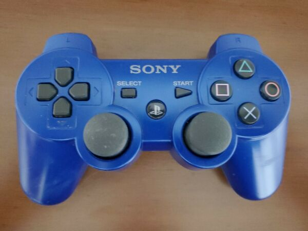 Sony PS3 Playstation 3 DualShock 3 Sixaxis Blue Controller Authentic OEM $15.99
