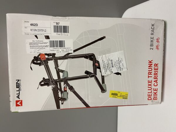 Allen Sports Deluxe Trunk Bike Carrier 2 Bike Rack $25.00