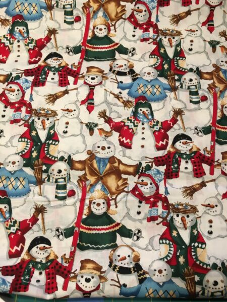 Alexander Henry quot;SNOW FRIENDSquot; Fabric BY THE YARD 100% Cotton Beige NEW