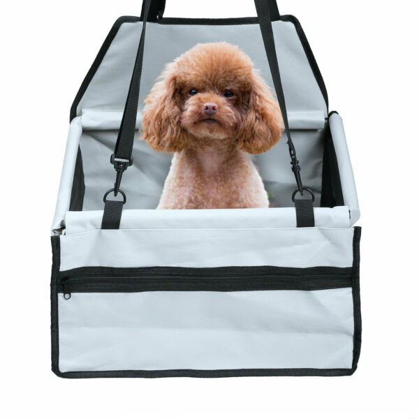 Portable Dog Booster Seat Belt Car Travel Carrier for Small Pet Cat Bag Folding $17.99