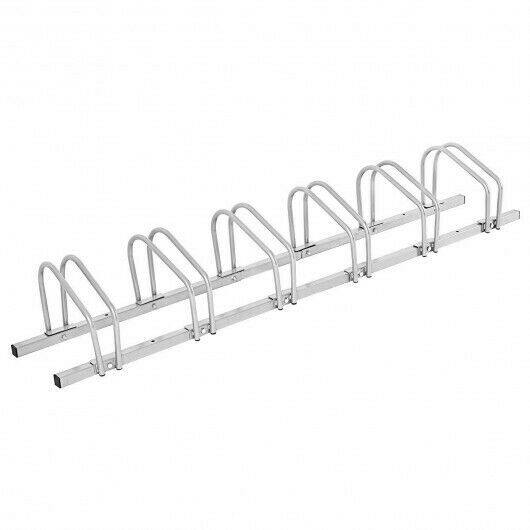 6 Bike Parking Garage Storage Bicycle Stand Silver $100.41