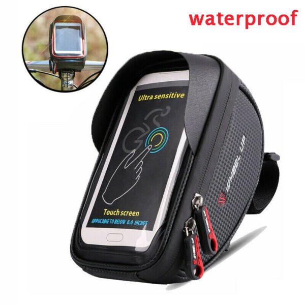 Waterproof sunscreen motorcycle bike riding handlebar holder mobile phone bag $9.99
