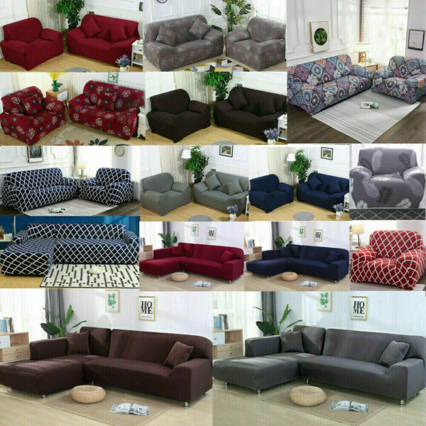 Universal Stretch 1 2 3 4 Seater Sofa Covers Couch Chair Protector Slipcover US $17.99