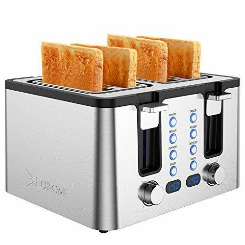 Hosome 4 Slice ToasterStainless Steel Bread Bagel Toaster with Warming Rack