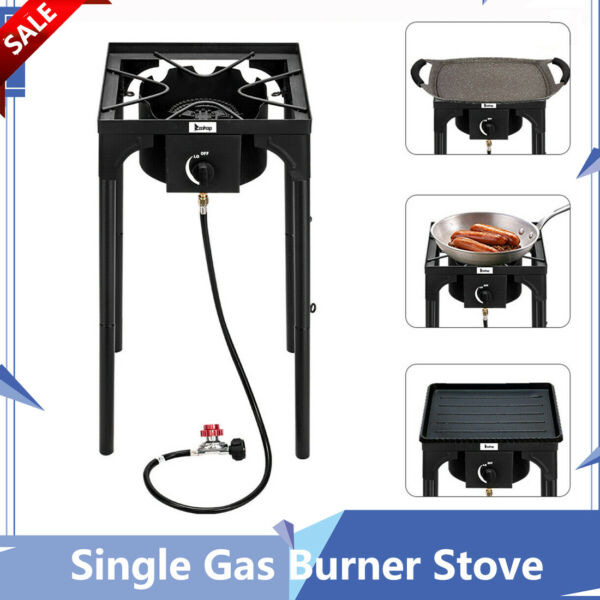 Powerful Single Gas Burner Stove Outdoor BBQ Cooker Portable High pressure New