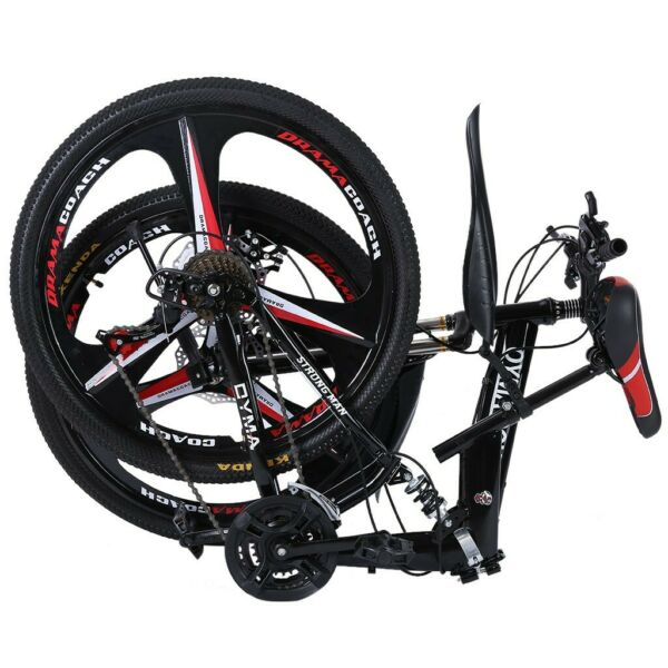 Folding Full Suspension 26in Mountain Bike Shimano 21 Speed Bikes MTB Bicycle $189.99