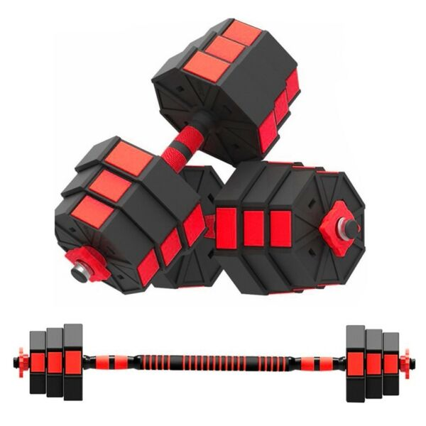 Totall 44 66 88LB Weight Dumbbell Set Adjustable Gym Barbell Plates Body Workout $69.88