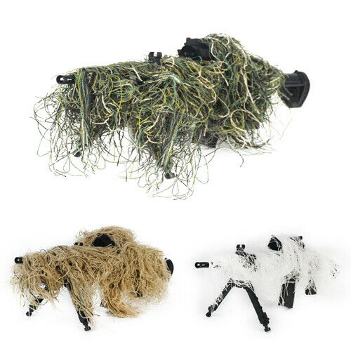Rifle Gun Wrap Cover 3D Camouflage Woodland Forest Ghillie Suit Hunting 3 Colors
