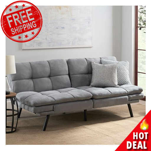 Memory Foam Futon Sofa Bed Couch Sleeper Convertible Foldable Loveseat FULL Size $196.49
