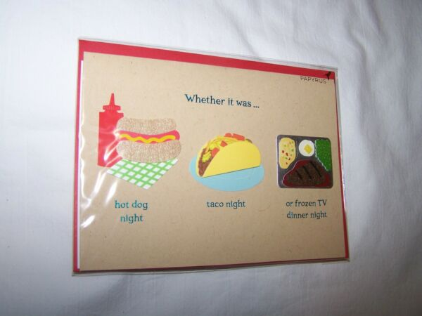 Papyrus Father#x27;s Day Greeting Card Envelope; Hot Dog Taco Frozen TV Dinner $6.00