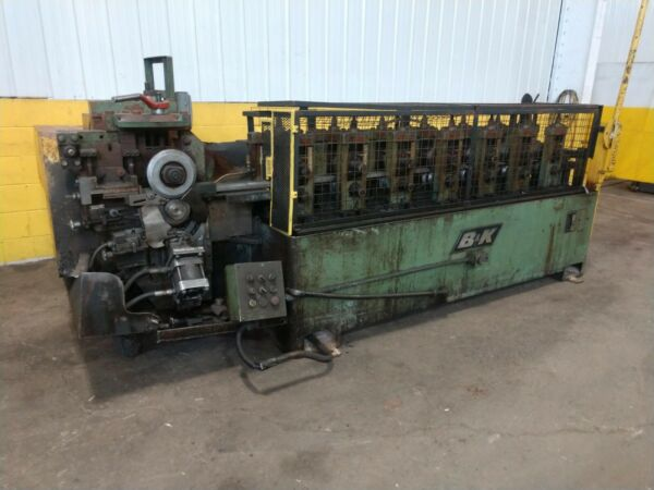 7 STAND X 1.5quot; Bamp;K ROLLFORMER WITH COIL ATTACHMENT: YBM #11885