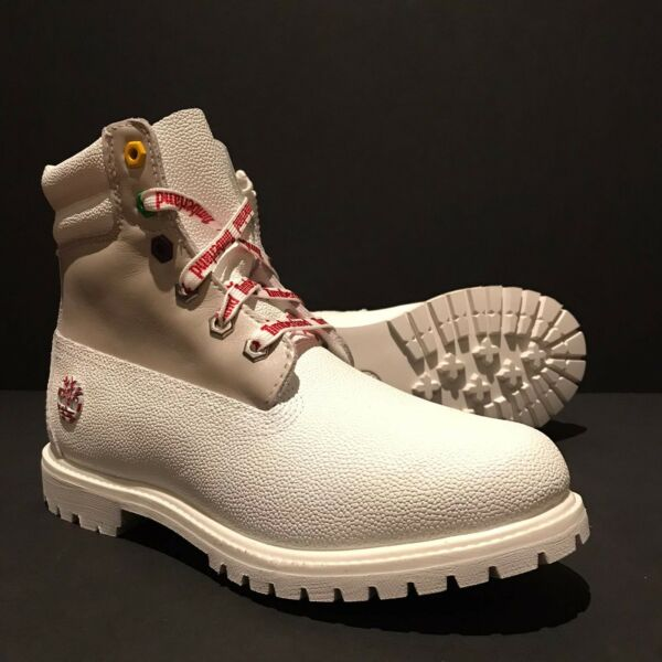 TIMBERLAND NEW Women's A1U67 WATERVILLE 6quot; WHITE WATERPROOF LEATHER BOOTS. SZ:9 $126.00