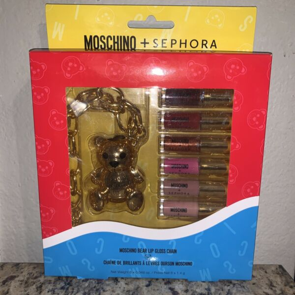 Moschino Sephora Bear Lip Gloss Chain Set BNIB Limited Edition Rare $75.99