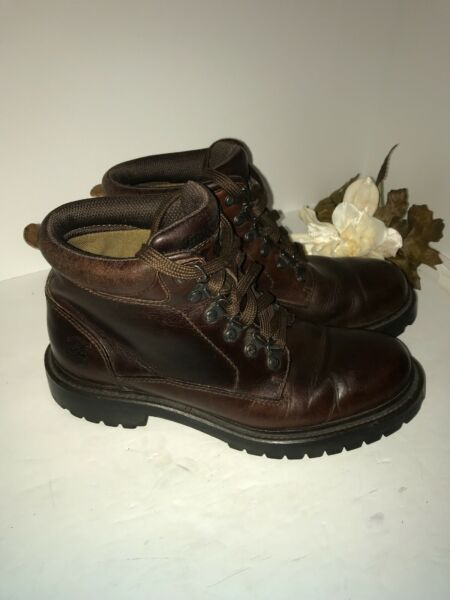 TIMBERLAND WORK BOOTS Size 8.5 Leather 81028. 6627 Toe Is Hard $39.99